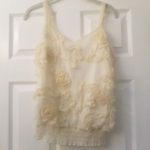 🦋 Heart Sole Cream Rosette Top Small